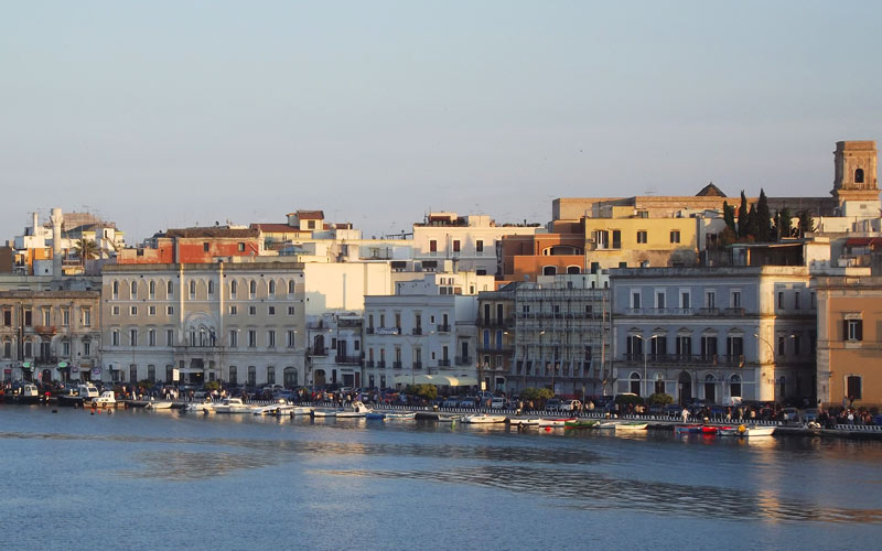 Views at sunset in Puglia, Italy