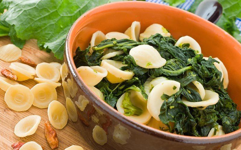 Orecchiette con le cime di rape, Puglia's traditional dish