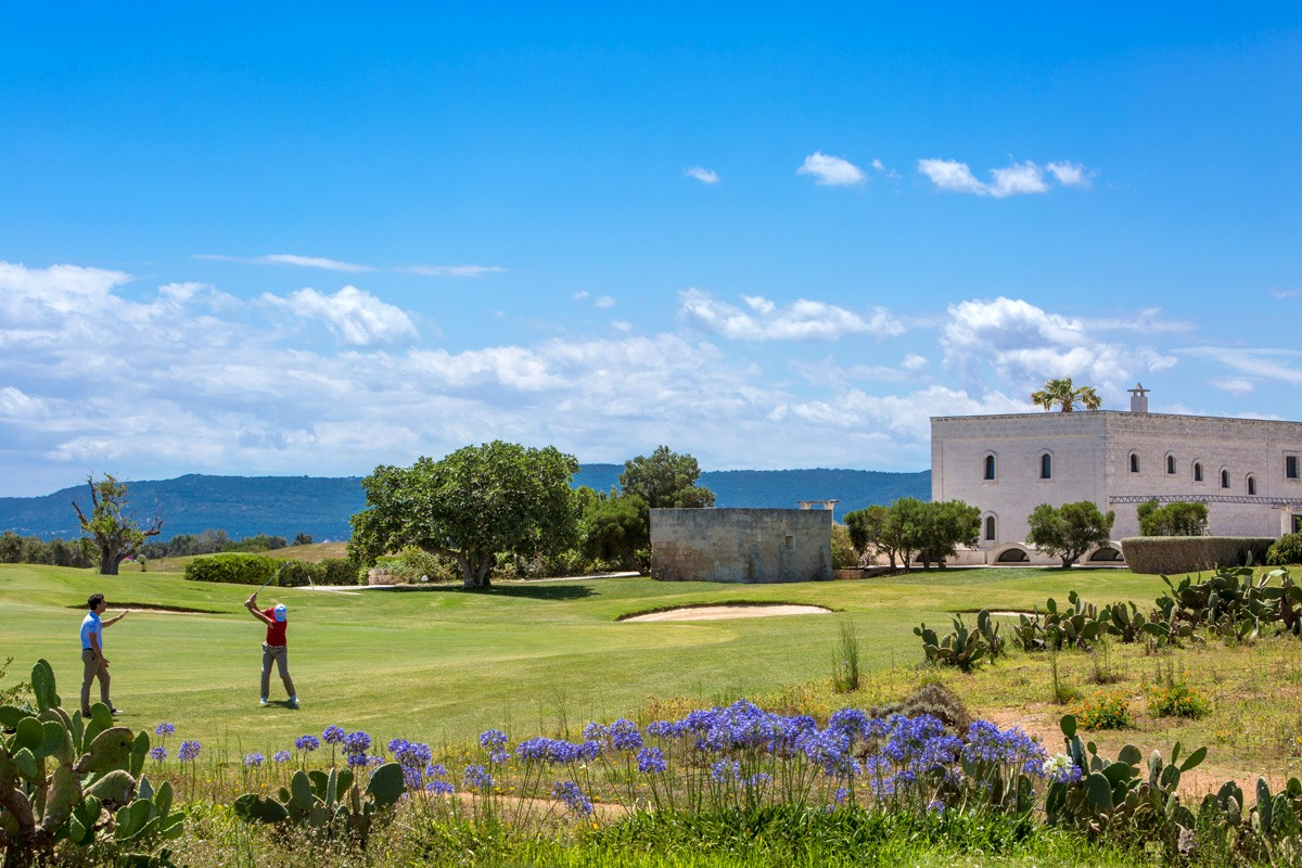 Puglia amazing golf club of San Domenico 18 tees