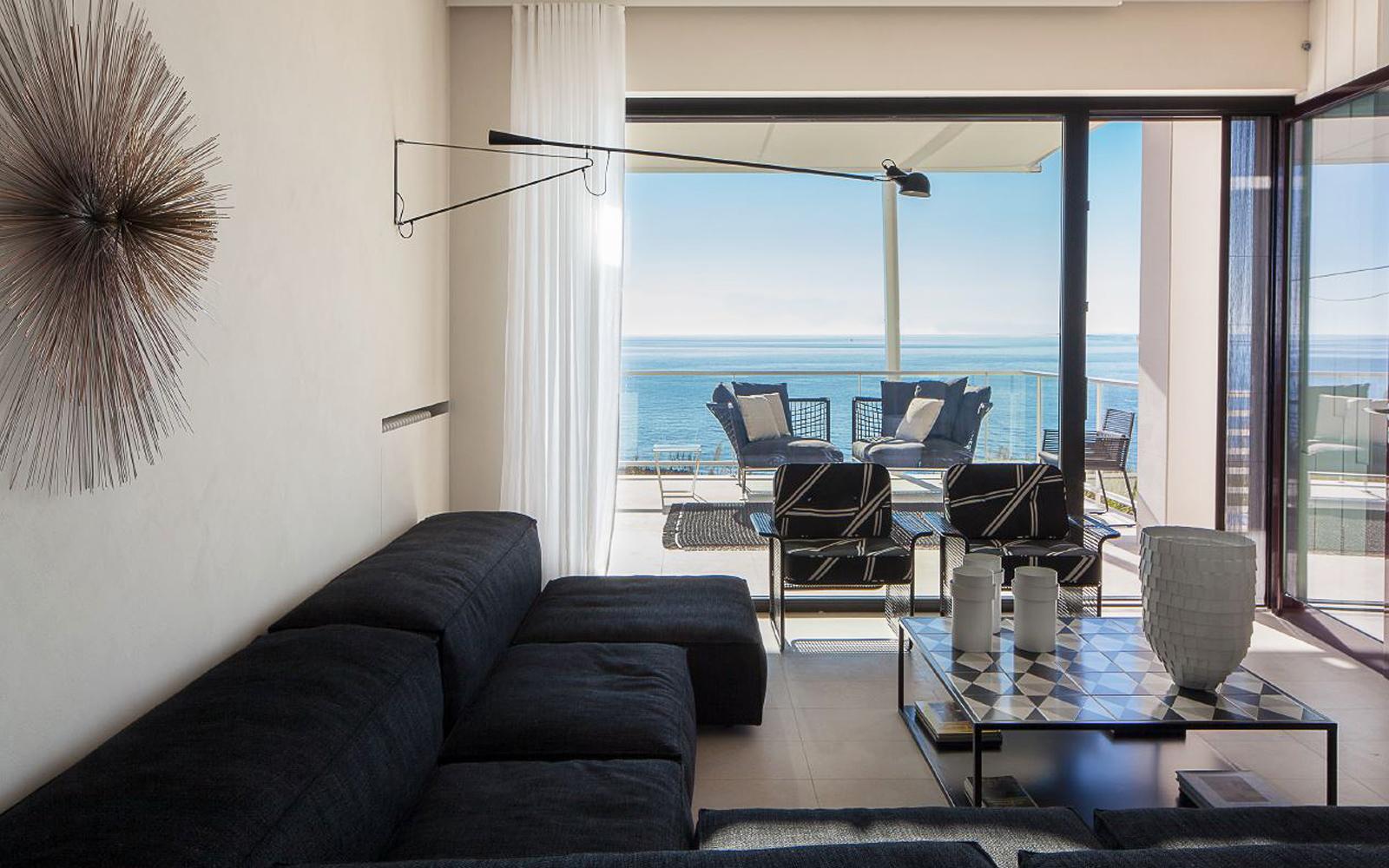 Villa interior with sea view for rent in Puglia