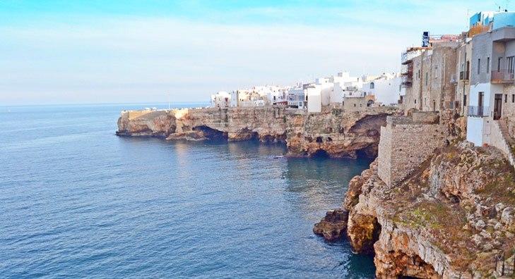 Town near the beach Italy puglia
