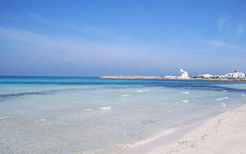Virgin beach in Puglia