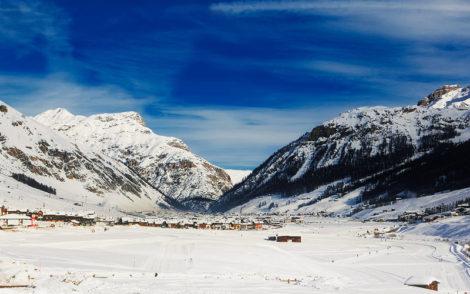 Vue d'une station de ski en Italie